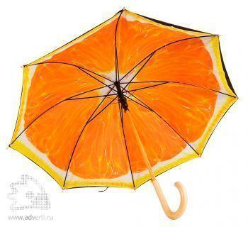 Зонт «Апельсин», полуавтомат, дизайн купола