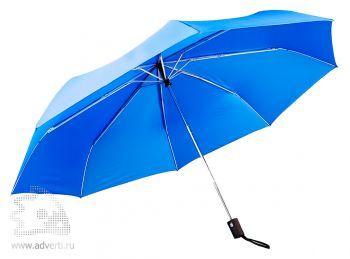Зонт складной «Unit Auto», автомат, 3 сложения, синий