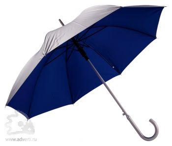 Зонт с алюминиевой ручкой «Unit Silver», полуавтомат, синий