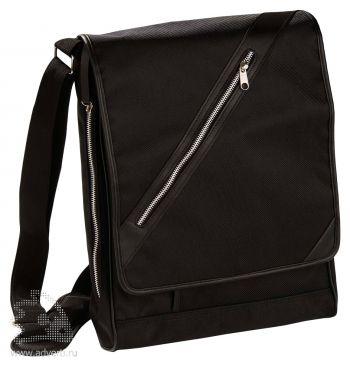 Черная сумка-мессенджер