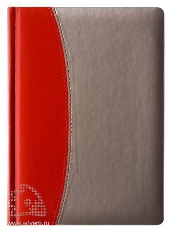 Переплет «Скат», красный с серебристым