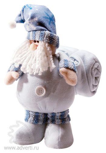 Дед Мороз с пледом, синий