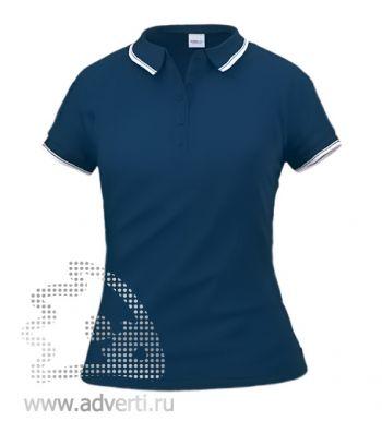 Рубашка поло «Stan Trophy W», женская, темно-синяя