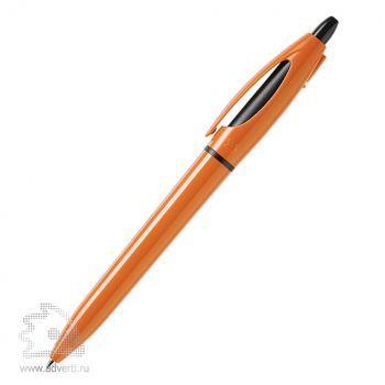 Шариковая ручка «S!», оранжевая, дизайн обратной стороны