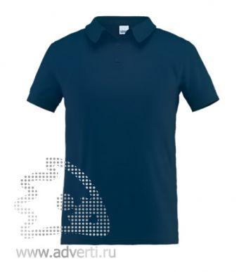 Рубашка поло «Stan Premium», мужская, темно-синяя