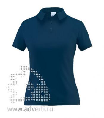 Рубашка поло «Stan Premium W», женская, темно-синяя