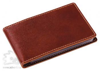Чехол для визиток или пластиковых карт, коричневый