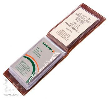 Чехол для визиток или пластиковых карт, внутренний дизайн