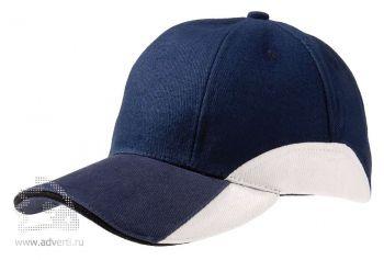 Бейсболка «Unit Discovery», синяя с белым