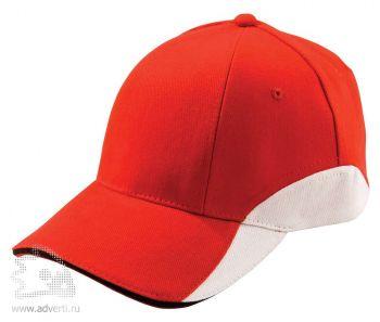 Бейсболка «Unit Discovery», красная с белым