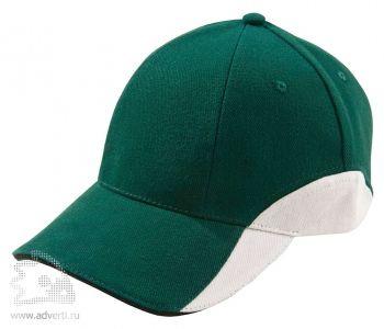 Бейсболка «Unit Discovery», зеленая с белым