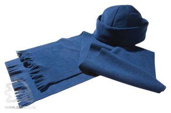 Комплект «Unit Fleecy»: шапка и шарф, синие