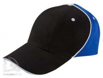 Бейсболка «Unit Smart», черная с синим