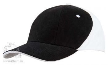 Бейсболка «Unit Smart», черная с белым