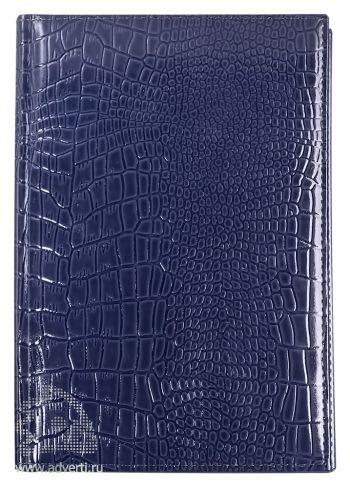 Ежедневник «Luxe Reptail», синий в обороте