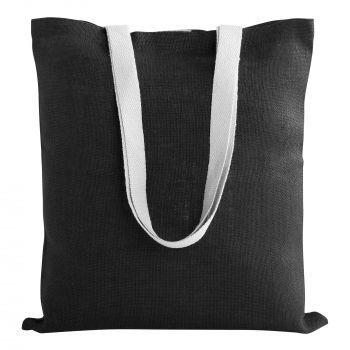 Cумка для покупок «Juhu», чёрная, пример с наполнением