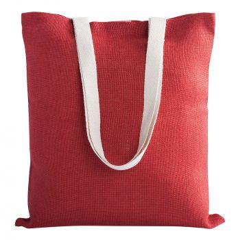 Cумка для покупок «Juhu», красная, пример с наполнением