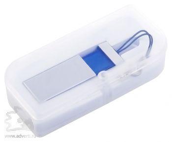USB-флеш-карта «Slide», синяя в упаковке