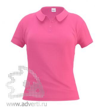 Рубашка поло «Stan Women», женская, светло-розовая