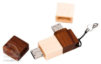USB-флеш-карта «Ход конем», открытая