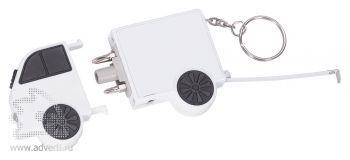 Брелок-рулетка «Фургон», белый, в открытом виде