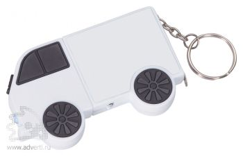Брелок-рулетка «Фургон», белый