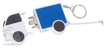 Брелок-рулетка «Фургон», синий, в открытом виде
