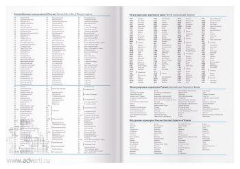 Информационная часть датированного ежедневника: автомобильные коды, международные аэропорты