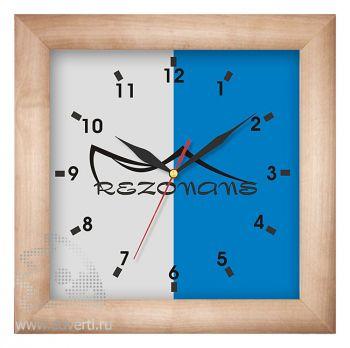 Часы квадратные 312x312 мм, светлое дерево