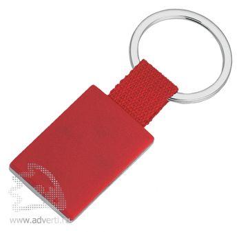 Брелок «Прямоугольник», красный