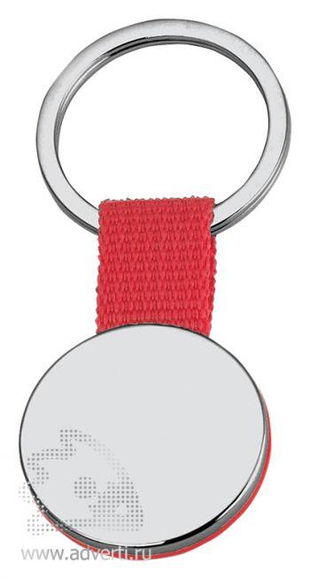 Брелок «Круг» на ремешке, красный