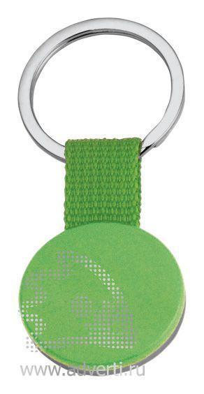 Брелок «Круг» на ремешке, зеленый