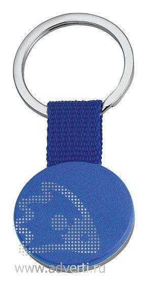 Брелок «Круг» на ремешке, синий