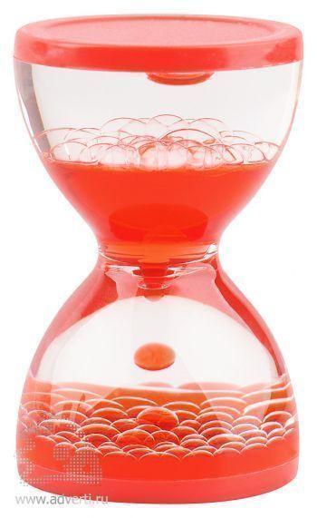 Жидкостная фигура для релаксации «Hourglass», красная