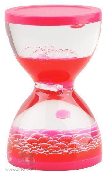 Жидкостная фигура для релаксации «Hourglass», розовая
