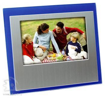 Горизонтальная рамка для фотографии 10х15 см, синяя