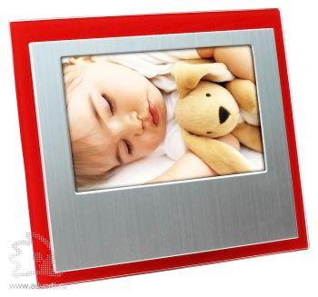 Горизонтальная рамка для фотографии 10х15 см, красная