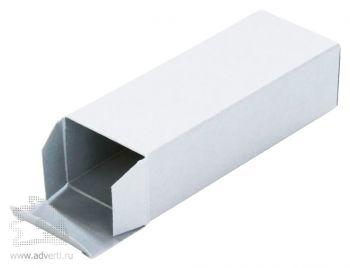 Коробка под флешку, серебристая, открытая