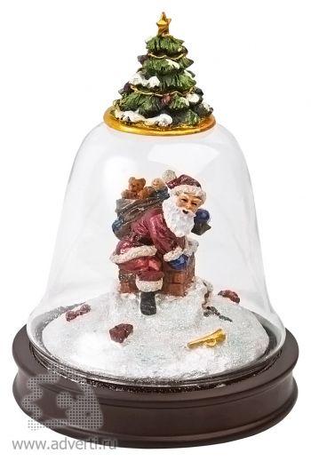 Новогоднее украшение «Дед Мороз с рождественской елкой»