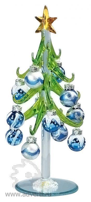 Елка из стекла «Рождество», синяя
