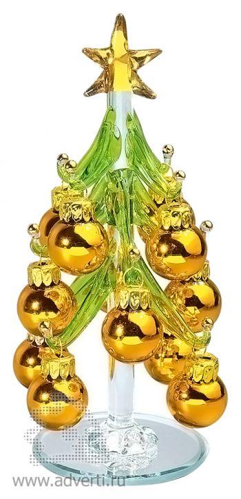 Стеклянный сувенир «Елочка», золотистая