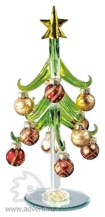 Елка из стекла «Рождество», красная
