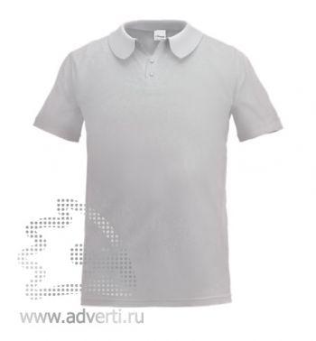 Рубашка поло «Stan Primier», мужская, светло-серая