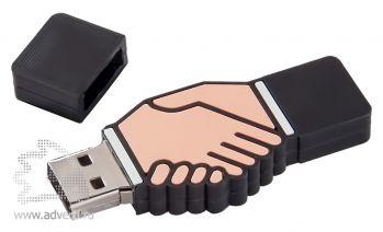 Флеш-память «Рукопожатие», открытая