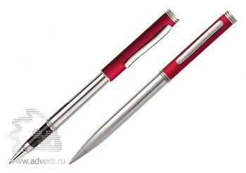 Роллер и шариковая ручка из набора «Кеннеди», красные
