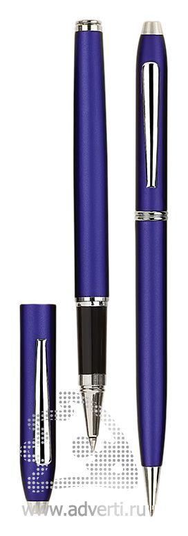 Роллер и шариковая ручка из набора «Экзюпери», синие