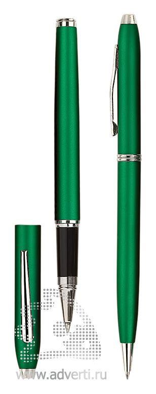 Роллер и шариковая ручка из набора «Экзюпери», зеленый