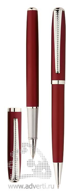 Роллер и шариковая ручка из набора «Дали», красные