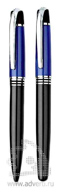 Шариковая ручка и ролллер из набора «Кюри», синие