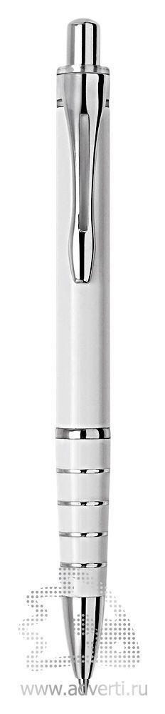 Шариковая ручка из набора «Райт», белая